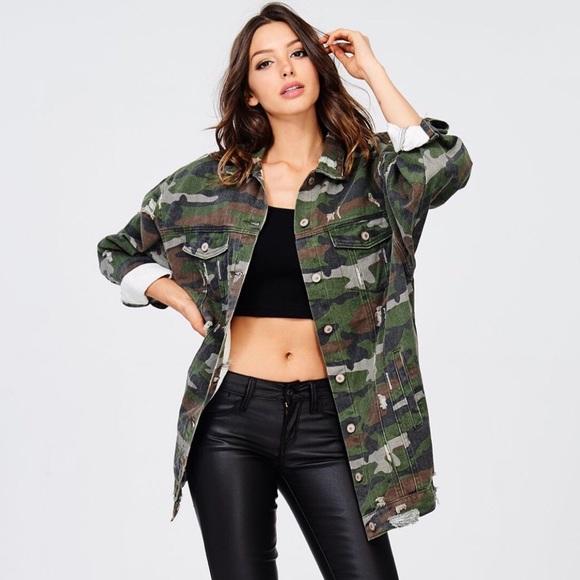 00f1deafdef8d UNEDITED BOUTIQUE Jackets & Coats   Camo Jean Oversized Jacket ...